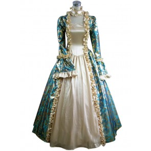 Victorian Lolita Georgian Reenactment Gothic Dress Blue