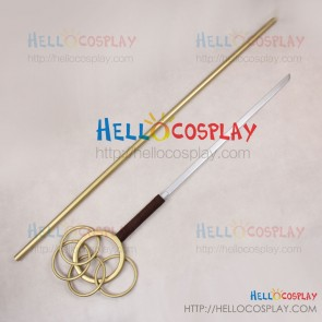 Corpse Princess Shikabane Hime Cosplay Keisei Tagami Cane Stick Blade Prop