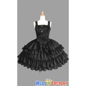 Sweet Lolita Gothic Punk Luxury Black Dress