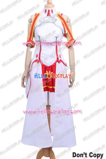Sword Art Online Cosplay Asuna Yuuki Costume White Dress