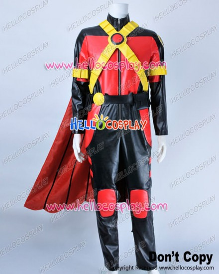 Young Justice Cosplay Red Robin Tim Drake Costume