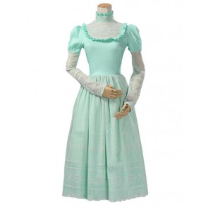 Lolita Cosplay Victorian Edwardian Ball Gown Reenactment Stage Green Dress Costume