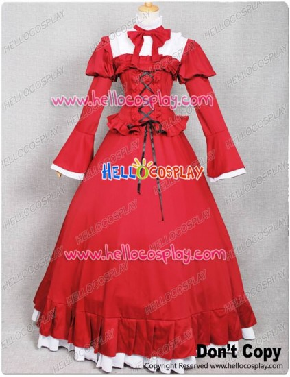 Pandora Hearts Cosplay Costume Alice Red Dress