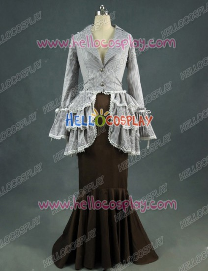 Victorian Lolita Edwardian Bustle Tea Party Punk Lolita Dress