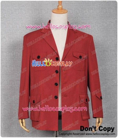 The Fourth Doctor Costume the 4th Dr Tom Baker Jacket Suit