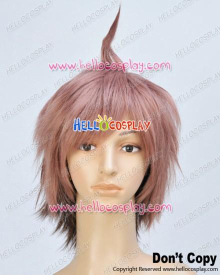 Danganronpa Dangan Ronpa Cosplay Makoto Naegi Light Brown Wig