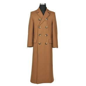 Doctor Dr 10th Tenth David Tennant Cosplay Costume Brown Trench Coat