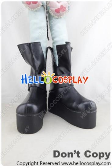 Angel Sanctuary Cosplay Shoes Short Boots Black Platform