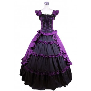 Victorian Lolita Ruffle Princess Gothic Lolita Dress Purple