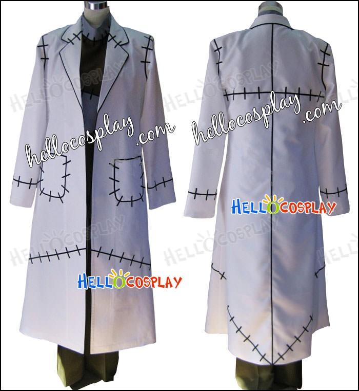 Soul Eater Franken Stein Doctor Cosplay Costume from Soul Eater Uniform Suit
