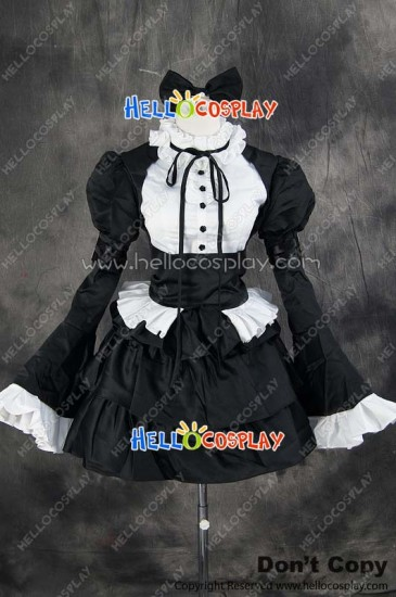 Fairy Tail Cosplay Erza Scarlet Maid Dress Costume