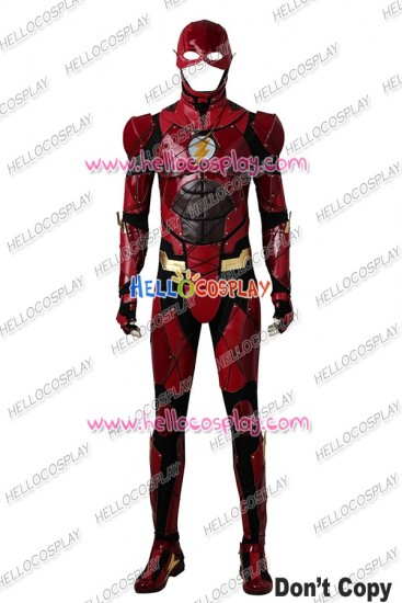 Justice League The Flash Barry Allen Cosplay Costume