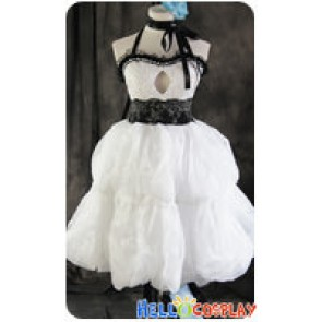 Vocaloid 2 Cosplay Hatsune Miku White Dress Costume
