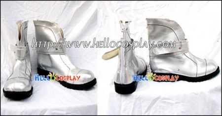 Macross Frontier Cosplay Sheryl Nome Short Boots Silver