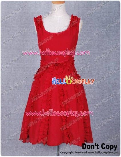 Harry Potter Deathly Hallows Hermione Granger Red Dress