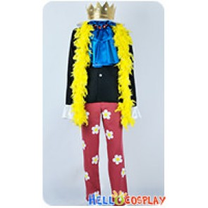 One Piece Cosplay Two Years Later Brook Burukku Costume Yellow Scarf