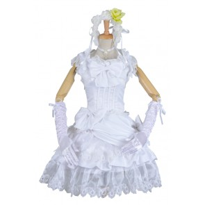Black Butler Cosplay Elizabeth Costume Front Cover Formal Dress