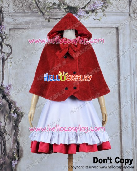 Vocaloid 2 Cosplay Gumi Little Red Riding Hood Costume