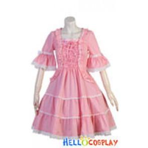 Gothic Lolita Costumes Black/Blue/Pink