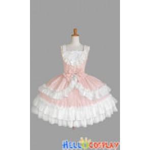 Sweet Lolita Gothic Punk Classic Jumper Skirt Light Pink Dress
