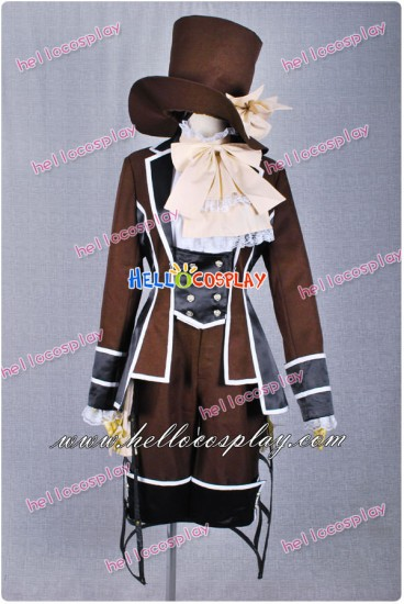 Black Butler Cosplay Ciel Phantomhive Brown Dandy Outfit