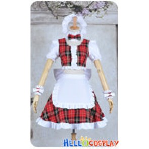 Lollipop Chainsaw Cosplay Cheerleader Juliet Starling Costume Maid Dress