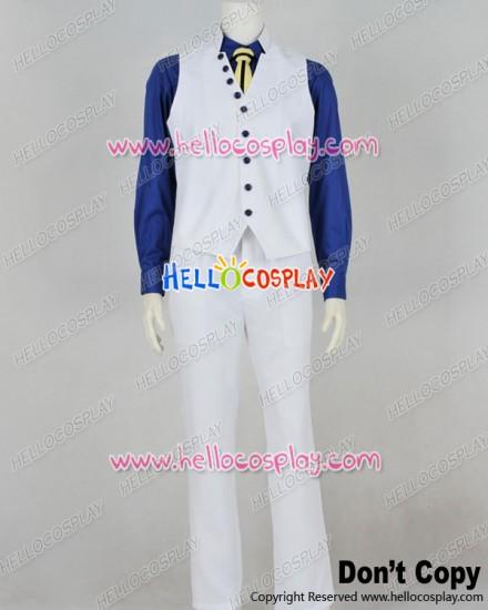One Piece Cosplay Admiral Sakazuki Aokiji Kuzan White Vest Costume