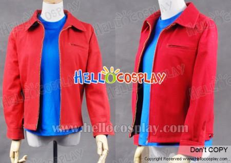Smallville Clark Kent Cosplay Red Denim Jacket Coat Costume