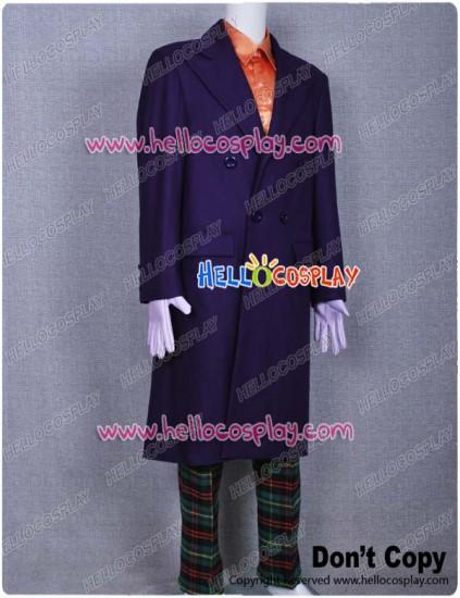 Joker Costume Purple Coat Suit Classic