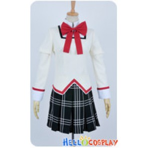 Puella Magi Madoka Magica Cosplay School Girl Uniform Costume