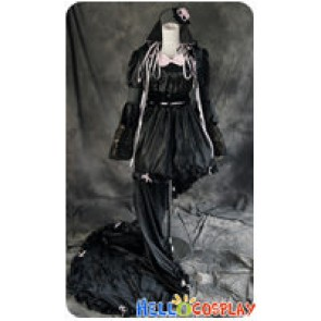Chobits Cosplay Chi Black Lolita Dress Costume
