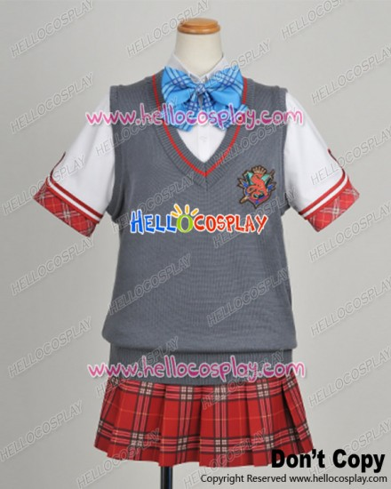 Daitoshokan No Hitsujikai Cosplay Gray Vest Uniform Costume