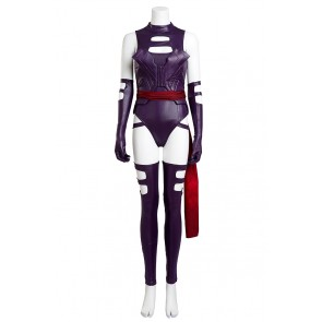 X Men Psylocke Cosplay Costume Purple