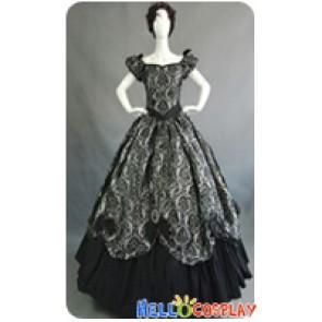 Victorian Lolita Southern Belle Brocade Gothic Lolita Dress Grey Floral
