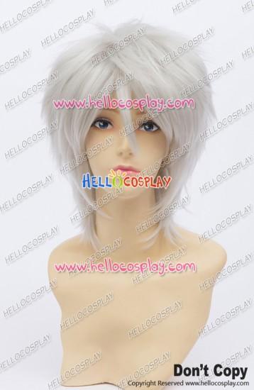 Gin Tama Gintoki Sakata Cosplay Wig 30CM Silvery White Hunter x Hunter Killua Universal Layered Short