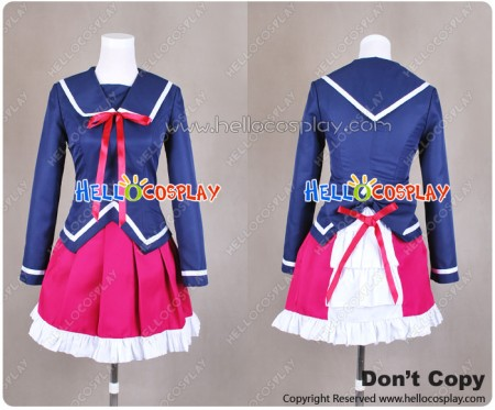 K Anime Cosplay Kukuri Yukizome Ashinaka High School Uniform