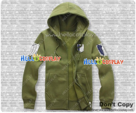 Attack On Titan Cosplay Shingeki No Kyojin Costume Scouting Legion Jacket Zipper Hoodie