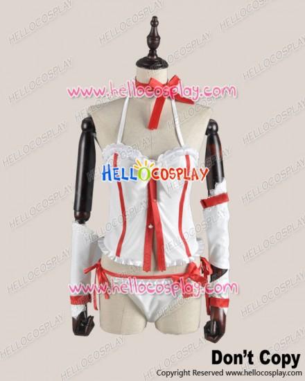 Sword Art Online Cosplay Asuna Yūki Suspenders Costume