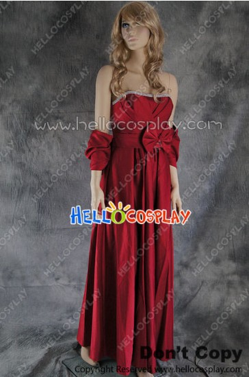Party Cosplay Red Ball Gown Formal Dress Costume