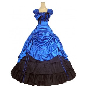 Southern Belle Civil War Reenactment Satin Lolita Dress Ball Gown