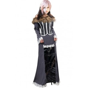 Final Fantasy X 10 Cosplay Lulu Costume Dress