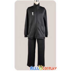 Haikyū Cosplay Volleyball Juvenile Black Sportswear Uniform Costume