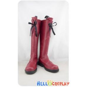 Tokyo Mew Mew Cosplay Shoes Ichigo Momomiya Boots Wine Red