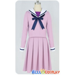 Noragami Cosplay Hiyori Iki Purple School Uniform Costume
