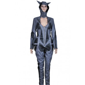 Batman Arkham City Catwoman Cosplay Costume Leather Jumpsuit