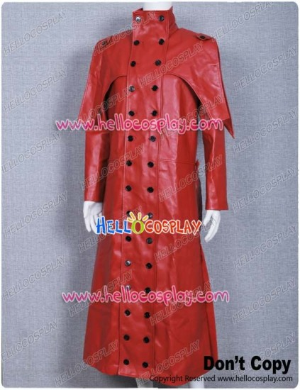 Trigun Cosplay Costume Vash the Stampede Red Leather Coat
