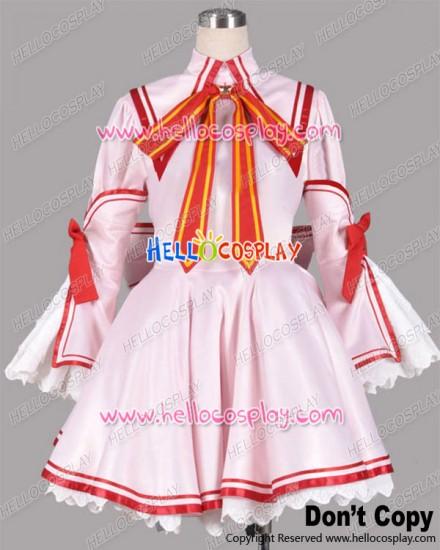 Rewrite Cosplay Kotori Kanbe Red Dress Winter Uniform Costume