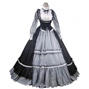 Victorian Gothic Lolita Steampunk Dress Ball Gown Cosplay