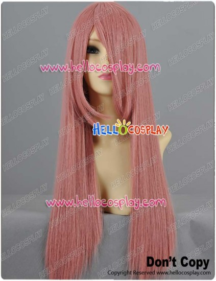 Dark Pink Straight Long Cosplay Wig 70cm