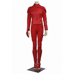 The Hunger Games 3 Part 2 Mockingjay Katniss Everdeen Cosplay Costume Red Uniform